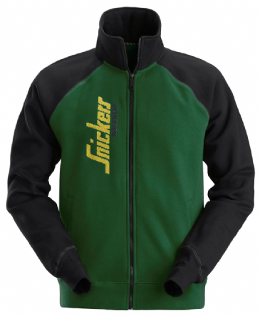 Snickers 2887 Logo Full Zip Jacket (Forest Green / Black)